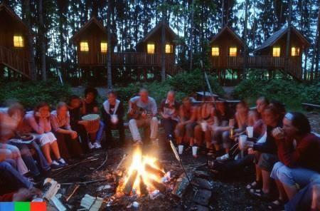 3 Tage Trainingslager in der Steiermark, Übernachtung in Pfahlhütten