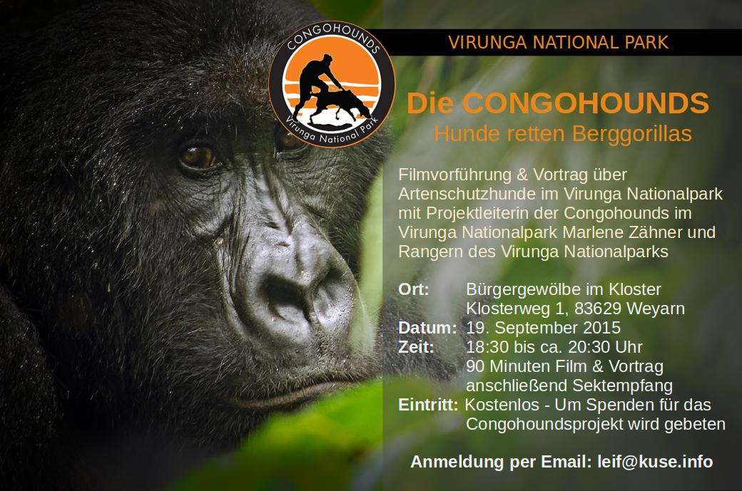 Die CONGOHOUNDS – Vortrag über Artenschutzhunde im Virunga Nationalpark